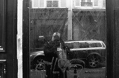 My F and me :) (Amelien (Fr)) Tags: blackandwhite bw film monochrome analog nikon noiretblanc amd nb f 400 nikkor rodinal ilford fp4 argentique preai 1100 v550 oneshot pellicule standdevelopment filmisnotdead 35f14 r09 nikkorn sunnyf16 homescanned believeinfilm laboargentique capturedonrealfilm