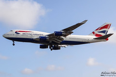 British Airways --- Boeing 747-400 --- G-BYGG (Drinu C) Tags: adrianciliaphotography sony dsc hx100v lhr egll plane aircraft aviation britishairways 747 boeing 747400 gbygg