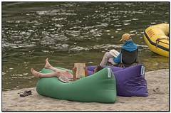 _DSC3575-aa (tellytomtelly) Tags: camp river reading book raft resting salmonriver oars mainsalmonriver knapbag