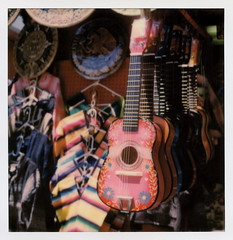 Mexican Guitars (tobysx70) Tags: california ca street pink toby color film project polaroid sx70 photography for la los rainbow downtown angeles painted guitars mexican tip cameras type instant sonar hancock poncho dtla impossible olvera the sx70sonar polawalk impossaroid 071616 dtlapolawalj2