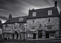 Jews House and Jews Court, Lincoln (malcolmacooper) Tags: lincoln monochrome blackwhite steephill heritage listedbuilding canon 24mm longexposure leefilters