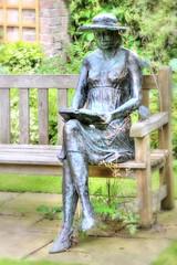 Sculpture, Stillingfleet Lodge gardens (robin denton) Tags: sculpture art garden stillingfleetlodge sitting peoplesitting seated sit