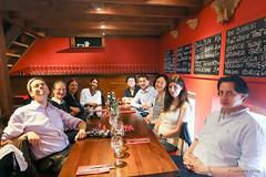Group photo of the EGF Team at the lunch (egf _fem) Tags: lunch restaurant eu fem christian peter isabelle kris marta gabriela jeremie europeancommission dominika bistra egf lamamma europeanglobalisationadjustmentfund egfteam