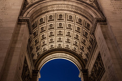 Arc de Triomphe (dslaviero81) Tags: city travel sunset sky david paris france building tower church station architecture digital canon lens photography europe cathedral metro eiffel notredame 5d fullframe parisian vitral 24105 llens slaviero 25105mm 5dmarkii 5dmk2 5dmark2