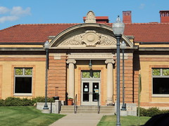 Carnegie Library, Stillwater, MN (Anita363) Tags: building brick minnesota stone architecture tile library entrance stillwater mn pediment publiclibrary carnegielibrary tileroof beauxarts acroterion carnegiepubliclibrary stillwaterpubliclibrary palmette