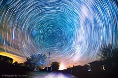 StarTrailRoad1-3 (Photography By Tara Gowen) Tags: road longexposure night nikon nightscape australia nsw nightsky startrails wideanglelens southernsky ruralaustralia southcelestialpole nswmidnorthcoast tokina1116mm nikond5300 taragowen photographybytaragowen yarrahapinninsw