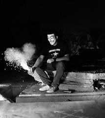 The Light Up (JLandau Photography) Tags: tucson arizona casagrande domes smoke mask milkyway longexpo steelwool steel wool night photography orb long exposure portrait stars