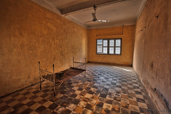 045-Cambodia (Beverly Houwing) Tags: school bed cambodia classroom room communism torture phnompenh isolation hdr imprisonment s21 interrogation khmerrouge tuolsleng polpot kampuchea genocidemuseum