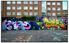 MR.JUNE,BINHO & TIZER (StockCarPete) Tags: streetart graffiti wallart graff tizer stockwell binho londonstreetart mrjune tizerid stockwellhalloffame