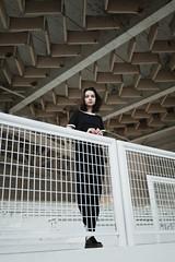 Daniela (Sarah Gallaun) Tags: girl woman model architecture geometrical testshoot modeltest sarahgallaun portrait prague czechrepublic