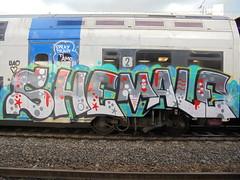 spraytrain ti amo (en-ri) Tags: shemale uao crew rosso grigio nero stelline train torino graffiti writing