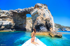 Tripitos Arch, Paxos, Greece (Bill-Metallinos) Tags: corfu greece travel island water prefecture blue beach sky beautiful girl light green beauty paxi sexy woman brunette sea seascape arch paxos best metallinos ionian mediteranean kerkira tourism turquoise hot