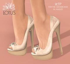 Maria Peep Toe WIP (LOTUS. & Ugly Duckling) Tags: shoe mesh original crossroads wip peep toe stilleto heel pumps suede leather high slink maitreya