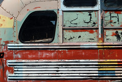 magic bus (oldogs) Tags: bus abandoned colorful colors lines texture peelingpaint t6s