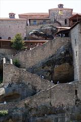Greece 1409 - Meteora stair (Zarako) Tags: greece meteora trip brick building church house monastery mountain stair stone