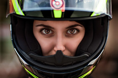 Aleksandra with helmet (Okeymaxim) Tags: thailand phuket moto helm eyes look women brow