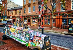 Max's Taphouse Recycled Beer Car on South Broadway St., Fell's Point (PhotosToArtByMike) Tags: fellspoint baltimore maryland maxstaphouse md southbroadwaystreet fellspointnationalhistoricdistrict historicwaterfront waterfrontcommunity rowhouses storefronts 18thand19thcenturyhomes baltimoreharbor maritime