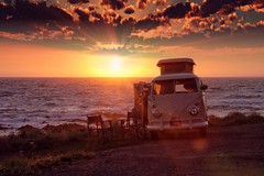 If there was a place I could take you (CY2010) Tags: cy2010 vw volkswagen wilderness camper classic retro adventure getaway wanderlust sunset cloud sea coast beautiful van bulli bus 1967 westfalia splitscreen light life authentic camping vanlife sundown