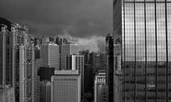 """""""a storm is coming ..."""" (ii) (hugo poon - one day in my life) Tags: xpro2 23mmf2 hongkong central hsbcmainbuilding landmark aiacentral stormy summer sky skyline skyscrapers cloud office architecture fav"""