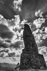 Vermus Virgin (LilFr38) Tags: lilfr38 canoneos5dmarkii canonef1740mmf4lusm espallion aveyron france blackwhite noirblanc vierge de vermus sky cloud virgin statue ciel nuage statut