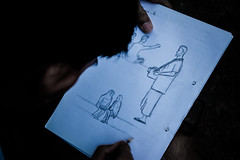   STREET ARTIST - Dhaka, Bangladesh   (mdanwarhossain) Tags: street blackwhite sketch dhaka art artist paper white pencil people supershot hobby excellent