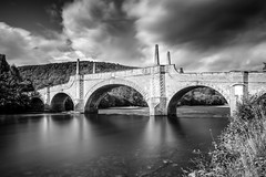 Wade's Bridge over the Tay at Aberfeldy B&W (Daniel Giza) Tags: scotland scottish water landscape highlands reflection wades bridge tay aberfeldy bw canon 50d sigma 1020 lee big stopper