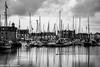 Stornoway harbor 2 (cosmosushi) Tags: bw landscape harbor highlands cloudy nikkor tamron hebridies stornoway scoland d5300