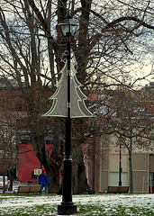 0008713 (Shakies Buddy) Tags: christmas street decorations canada lamp bells post nb kingssquare saintjohn nbphoto allrightsreserved