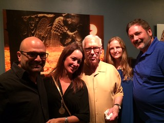 Gustavo Godoy with wife Margie, Monty Trainer, and Jeanie and Tom Mitchell at the Coconut Grove Festival Gallery opening of Storaro photography
