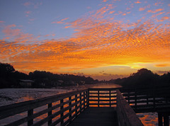 Colorful North Fork Sunrise (tclaud2002) Tags: morning orange sun color sunrise river dawn colorful florida northfork palmcity saintlucie