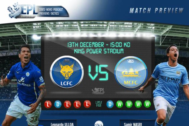 LEICESTER CITY VS MAN CITY