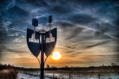 Wegweiser (dersgtdan) Tags: sunset berlin church germany deutschland pentax kirche signpost 1855 landschaftspark dri hdr wartenberg wegweiser feldmark k30