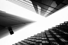 Acute and Obtuse (Digital Traveler) Tags: england blackandwhite bw london monochrome contrast canon buildings eos mono architechture day cloudy unitedkingdom angles obtuse 6d acute