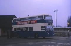 NAC417F (21c101) Tags: 1969 11 1967 warwickshire stratford stratforduponavon leyland northerncounties leylandatlantean stratfordblue pdr1a1 nac417f redlionbusstation