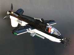 "Sakhalin Sa-3 ""Orca"" (Cagerrin) Tags: airplane lego aircraft system groundattack ifshturmovikshadstyle"