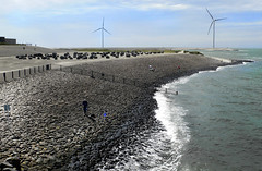 Neeltje Jans Delta , The Netherlands (singingdaisy) Tags: netherlands windturbines thegalaxy eperke flickrestrellas