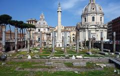 View of Basilica Ulpia and Trajan's Column