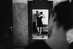 bedroom mirror (gorbot.) Tags: blackandwhite me rangefinder f2 roberta reflectedselfportrait mmount leicam8 carlzeiss35mmbiogonf2zm vscofilm