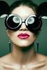 Mickey Glasses (photögraphy.com) Tags: pink deleteme beauty sunglasses saveme saveme2 saveme3 lips mickeymouse earrings retouch onelight frequencyseparation
