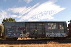 (huntingtherare) Tags: train bench graffiti railcar chip boxcar met ta freight eulogy benching