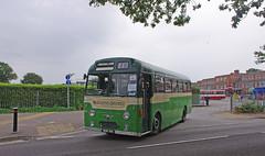 DB741.  AEC Reliance. (Ron Fisher) Tags: uk greatbritain england bus green pentax unitedkingdom transport gb publictransport farnborough reliance aec pentaxkx aecreliance aldershotdistrict farnboroughbusrunningday