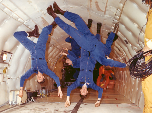 Astronauts Experience Weightlessness in the KC-135