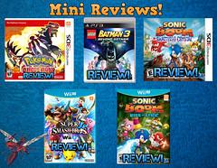 Mini Reviews! (AntMan3001) Tags: 3 smash lego crystal omega review mini super sonic boom u batman pokemon ruby rise shattered bros lyric wii