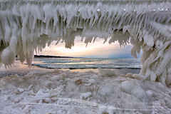 Yeti Mouth (Craig - S) Tags: winter cold ice nature season pier frozen michigan extreme freezing lakemichigan environment icy frigid icicles catwalk harsh grandhaven froze icecurtains