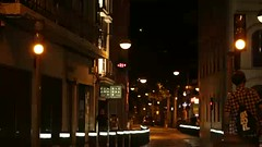Night street traffic and pedestrians (greycoastmedia) Tags: barcelona city urban motion black trafficlights cars lights evening video spain realtime catalonia citylights electricity pedestrians hd nightstreet footage electriclight badalona nighttraffic 1080p stockvideo greycoastmedia