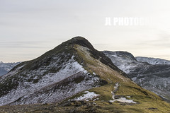 Up Cat Bells (JoshJackson84) Tags: uk england mountain snow mountains ice landscape europe view hill lakes lakedistrict hills cumbria derwentwater keswick catbells skiddaw canon60d sigma18250mm
