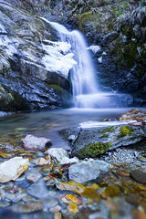 Waterfall (Francy_93) Tags: sunset snow alps ice waterfall frosty piemonte inverno alpi ghiaccio cascata
