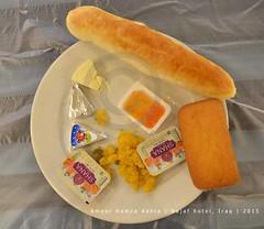 Breakfast, Najaf, Iraq (Ameer Hamza) Tags: morning food classic modern breakfast bread hotel living healthy mix tea good iraq great butter jelly pakistani shana jam chai hamza najaf ameer 2015 nashta hulwa adhia adhoa