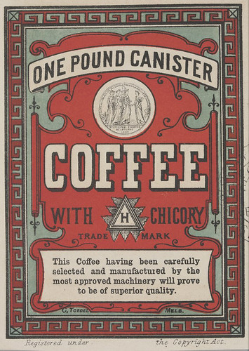 One pound canister coffee with chicory - [labels]