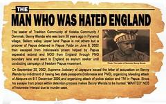 BENI WENDA the man who was hated England (Eko Subur) Tags: england west united free international oxford benny british lawyers papua campaign wenda merdeka parliamentary koteka kongdom demmak ipwp ilwp